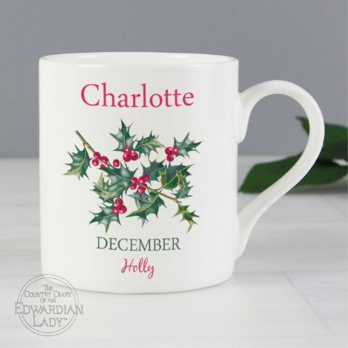 Country Diary 'December Flower Of The Month' Balmoral Mug